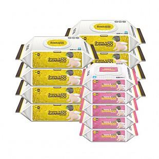 삼무 프리미엄 캡형 엠보싱 물티슈 74매 x 8팩 + 삼무 프리미엄 휴대용 20매 x 5팩