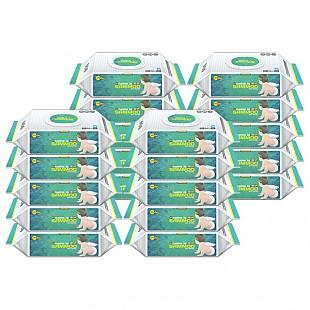 (행사)삼무 프리미엄 캡형 플레인 물티슈 74매 x 20팩